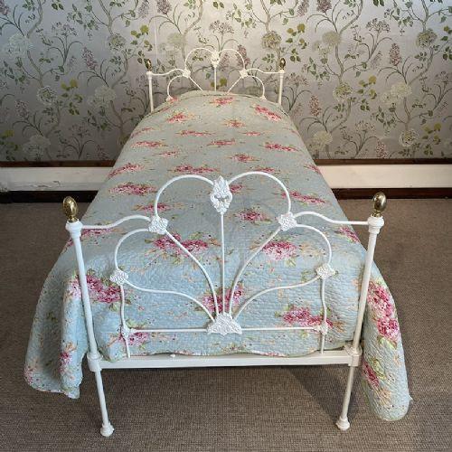 Englisches Einzelbett aus Messing 1880
