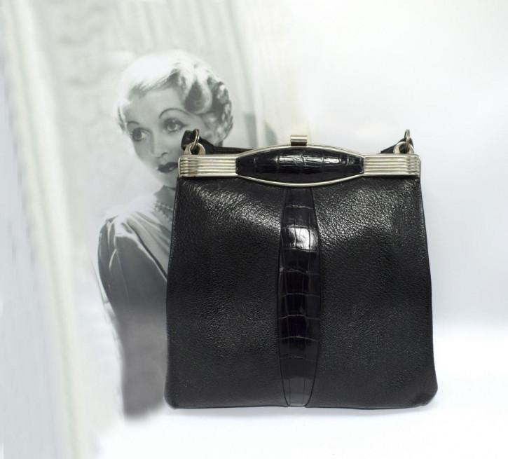Original 1930er Vintage Art Deco & Chrom Damentasche