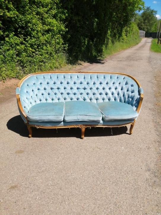 französisches geschnitztes Sofa
