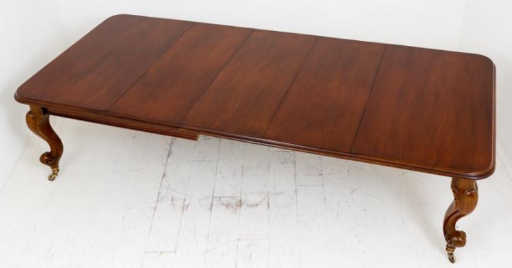 Erweiterbarer victorianischer Mahagoni Esstisch Kabriolenbeine