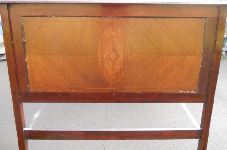 Edwardian Mahagoni Doppelbett