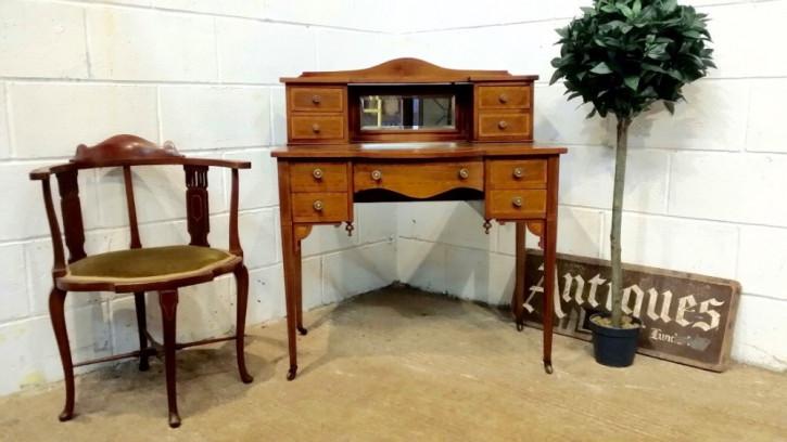 Antiker edwardianischer Mahagoni Damen Schreibtisch 1900
