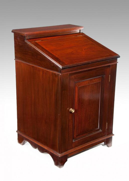 Antiker kleiner Mahagoni Davenport Schreibtisch Massivholz