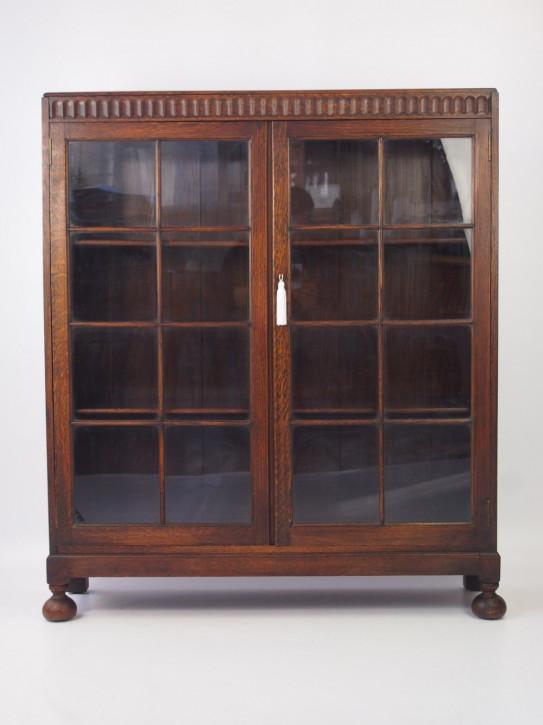 Zweitüriger Bücherschrank aus Eiche, abschließbar, Edwardian 1890