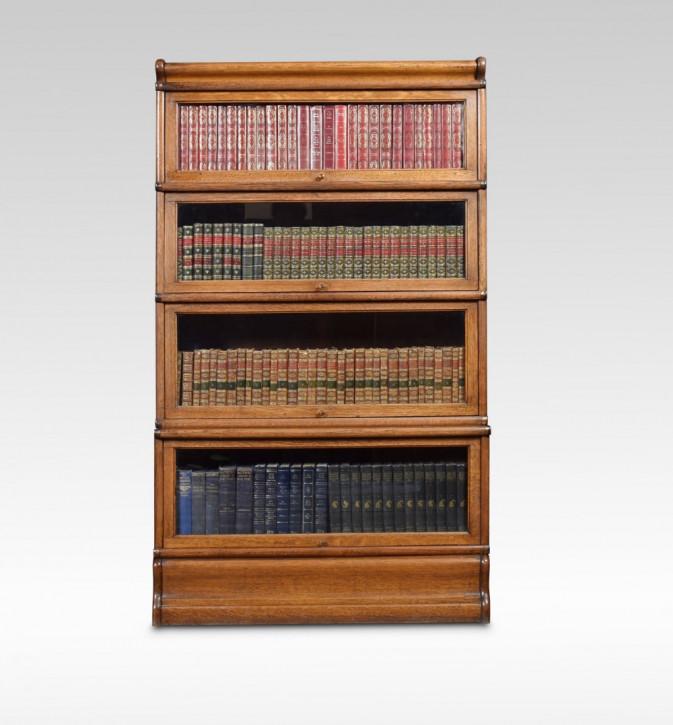 Globe Wernicke Bücherschrank aus Eiche mit vier Abschnitten