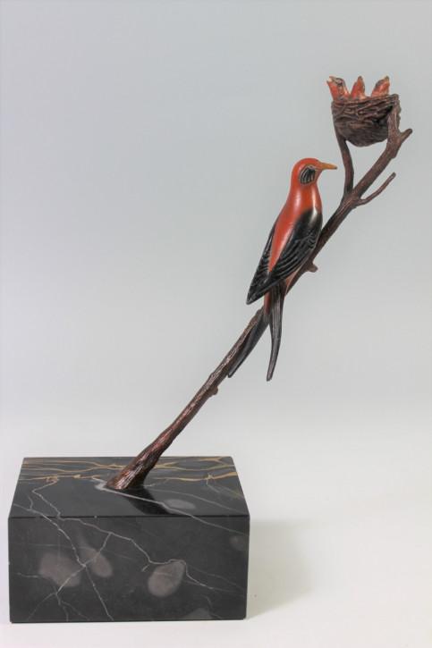 Französische Art Deco Bronze Figur Vogel von Rochard von ca. 1925