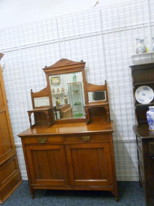 Edwardianisches Sideboard mit Spiegel  1900 JH
