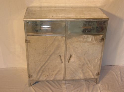 Antikes Sideboard aus Aluminium Adt deco style  1930