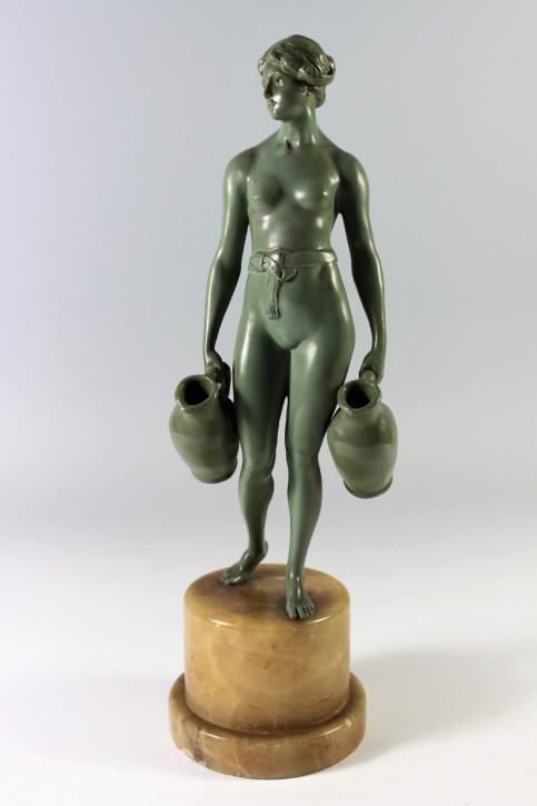 FreFranzösische Art Deco Figur Wasserträger, ca. 1920