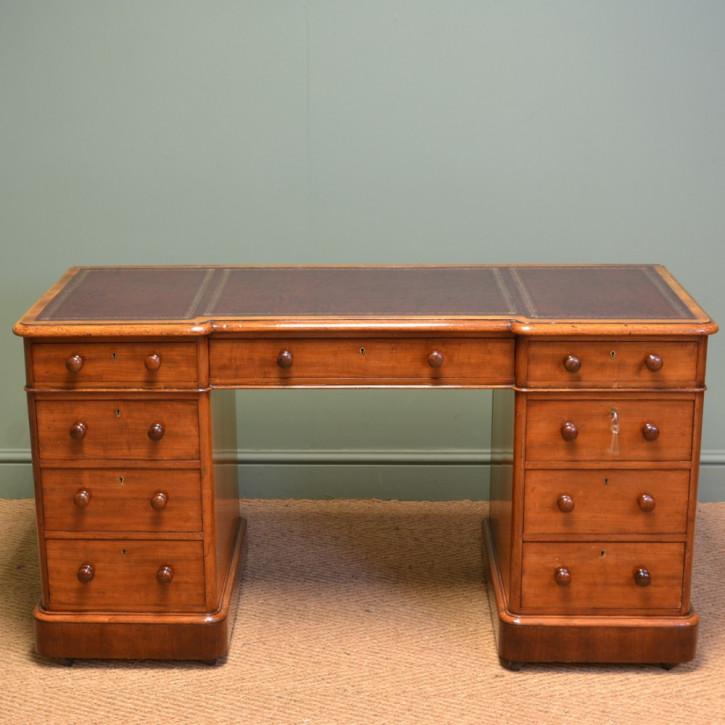 Antiker viktorianischer Mahagoni Schreibtisch Massivholz