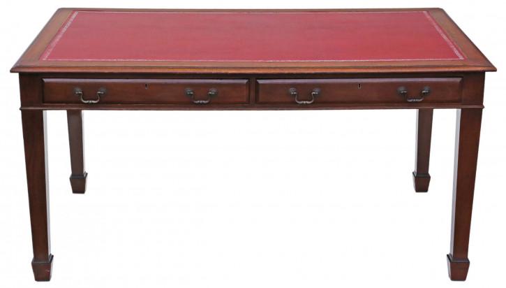 Georgian Revival Partner Schreibtisch von ca. 1925 Orginal Massivholz
