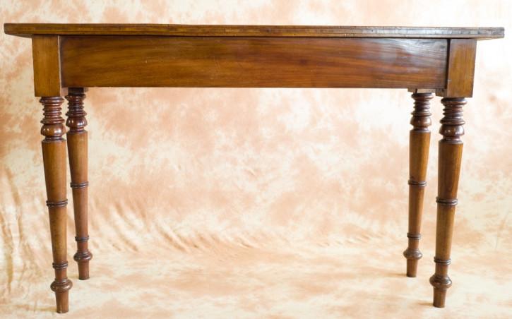Viktorianischer Serviertisch aus Mahagoni- und Nussbaumholz antik