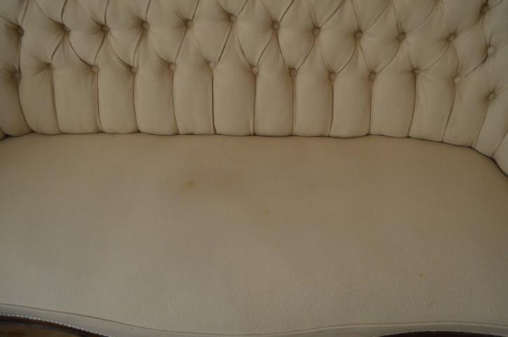 Viktorianisches Stoff Sofa mit Mahagoni Rahmen 1860