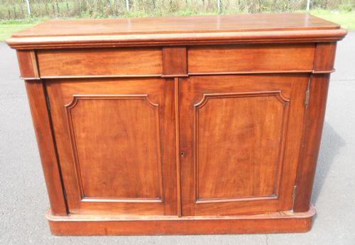 Kleines Victorian Mahagoni Sideboard Original 1850