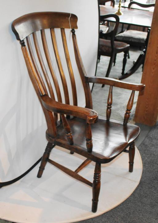 Hochwertiger viktorianischer Sessel aus Ulmenholz von ca. 1950