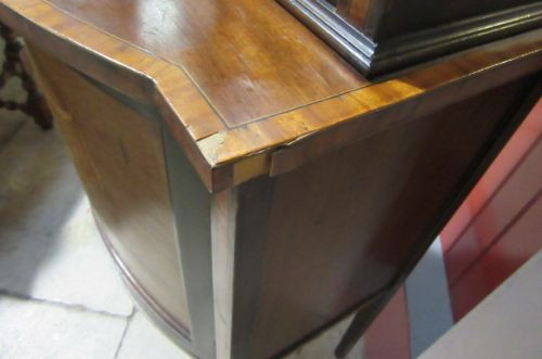 Antiker Edwardian Vitrinenschrank Bowfront 1890 SA2042d
