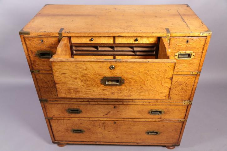 Sekretär Kommode mit Schubladen, Eiche, 1850 original