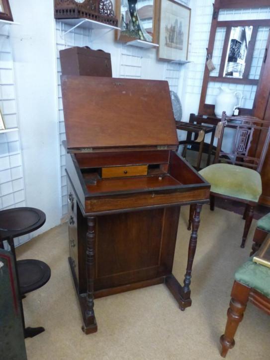 Edwardianischer antiker Davenport Schreibtisch, 19. Jahrhundert, Mahagoni