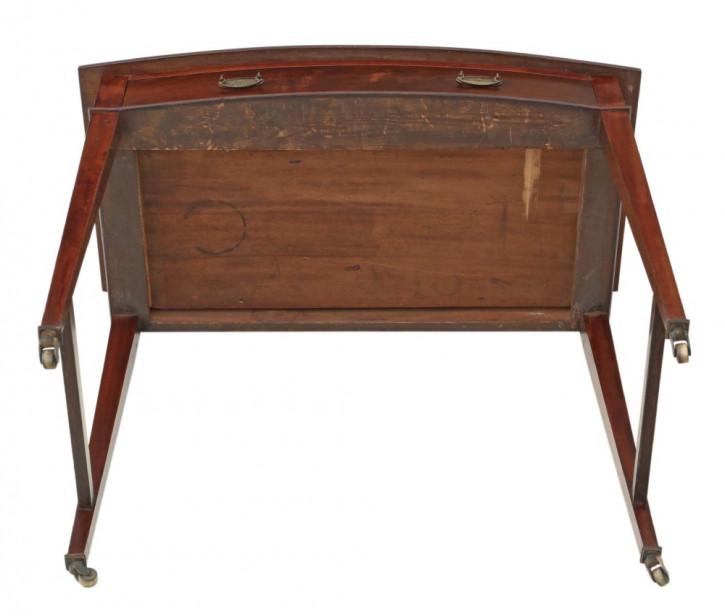 Feiner antiker Viktorianischer Mahagoni Bow Front Schreibtisch, 1900