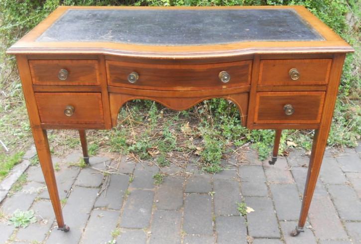 Original antiker Edwardianischer Lady Schreibtisch, Mahagoni Massivholz, 1900