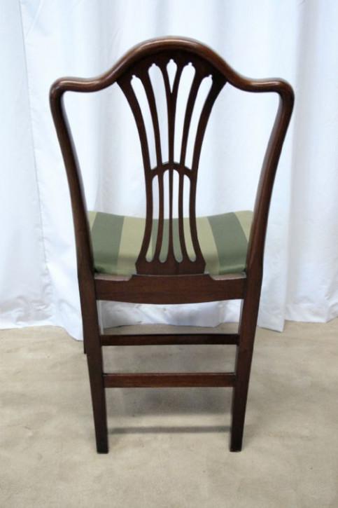 Sechs original antike edwardianische Esszimmerstühle aus Mahagoni massiv Hepplewhite 1890