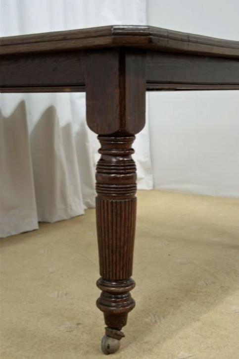Original antiker viktorianischer Esstisch Eiche 1850