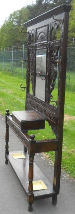 Original Antike Englische Viktorianische geschnitzter Eichen Gaderobe Massivholz von ca. 1880