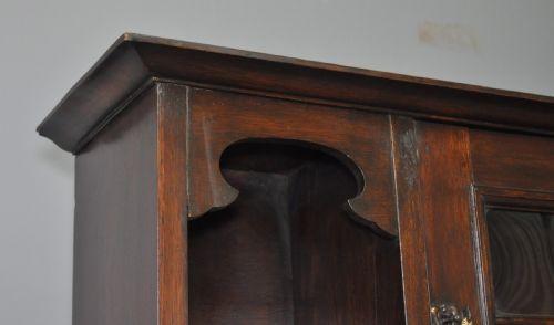 Arts & crafts Eichen Sekretär original antik mit Bücherregalaufsatz Massivholz bureau bookcase englisch von ca. 1900