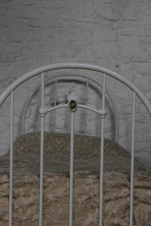 Antikes edwardisches Einzelbett Messing Bett 1890