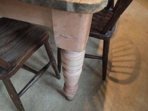 Englischer Viktorianischer Kiefern Esstisch antik ca. 1880