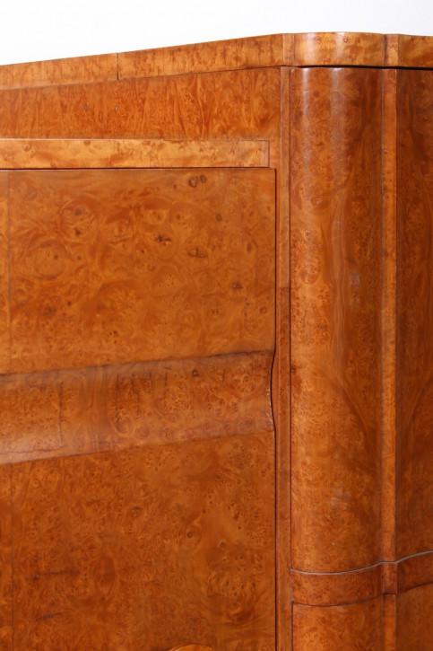 Antiker Englischer Ahorn Art Deco Cocktailschrank Sideboard ca. 1930