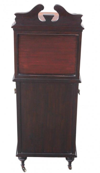 Englischer Antiker Viktorianischer Palisander Nachttisch ca. 1860