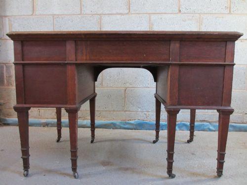 Sehr guter antiker Englischer Edwardianischer Eichen Schreibtisch ca. 1900