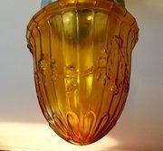 Edwardianische Braunglas Laterne original antikca. 1900