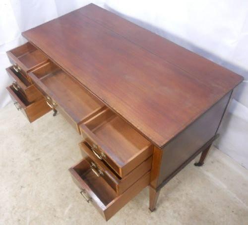 Edwardianischer Mahagoni Schreibtisch original antik England