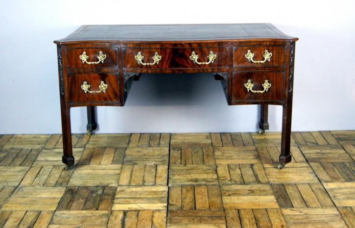 Herrlicher antiker edwardianischer Mahagoni Schreibtisch mit Leder 1910