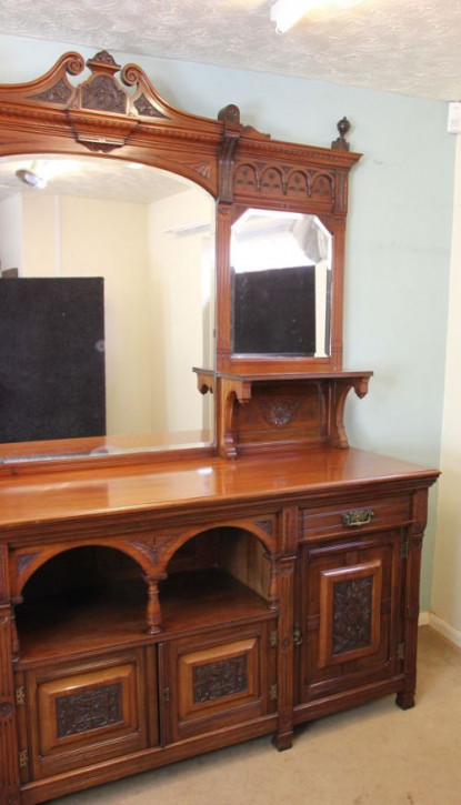Original antikes viktorianisches Mahagoni Sideboard englisch 1850