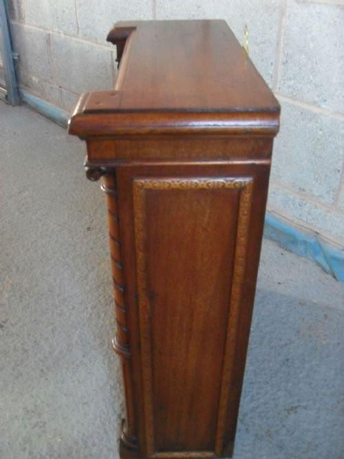 Hervorragende antike viktorianische kleine Mahagoni Breakfront Vitrine 1850
