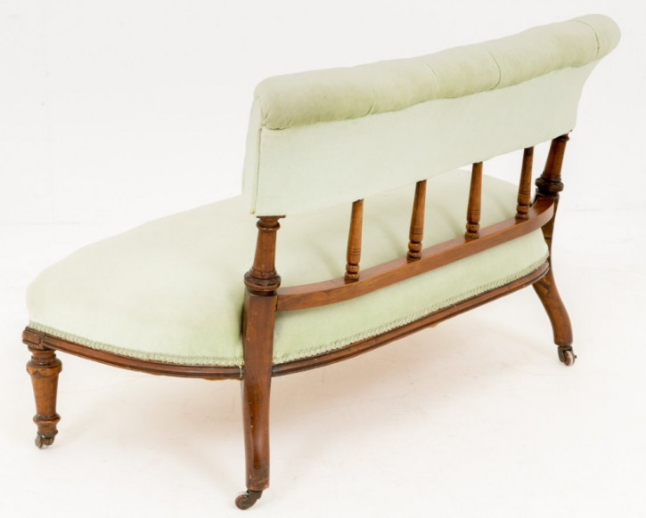 Schöne original antike Mahagoni Sitzbank gepolstert englisch 1870
