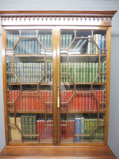 Antikes Englisches Edwardianisches Mahagoni Bücherregal ca. 1910