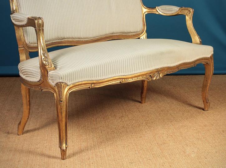 Original Antike Französische Couch Belle Epoche ca. 1900