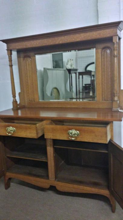 Feines antikes Eichen Sideboard britisch ca 1900