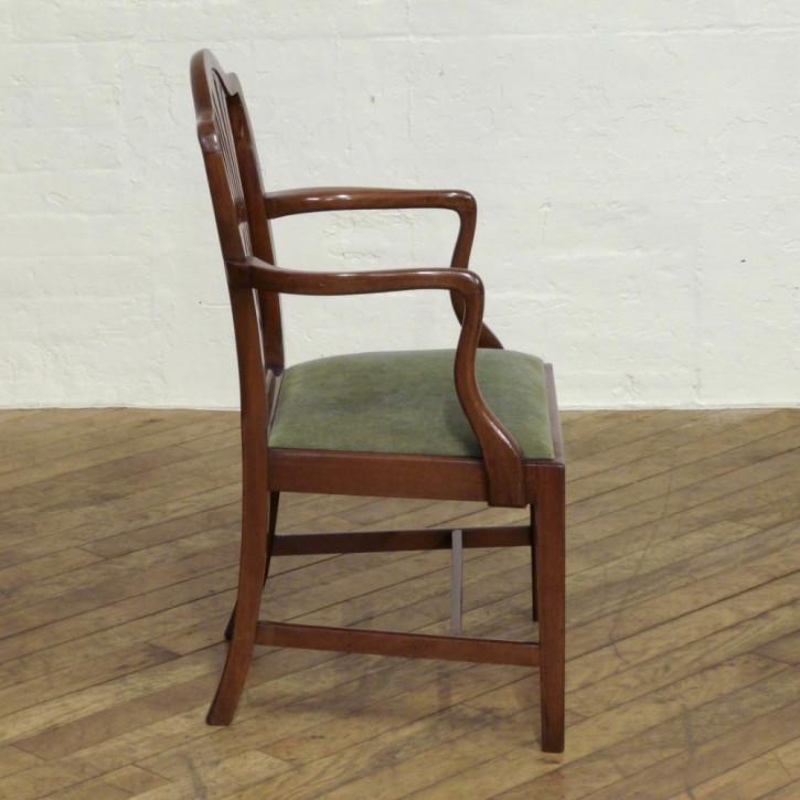 8 Original Antike Englische Edwardianische Mahagoni Stühle Sheraton Stil ca. 1900