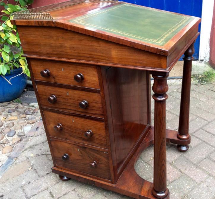 EinmaligerRegency Palisander Davenport Schreibtisch englisch ca 1800