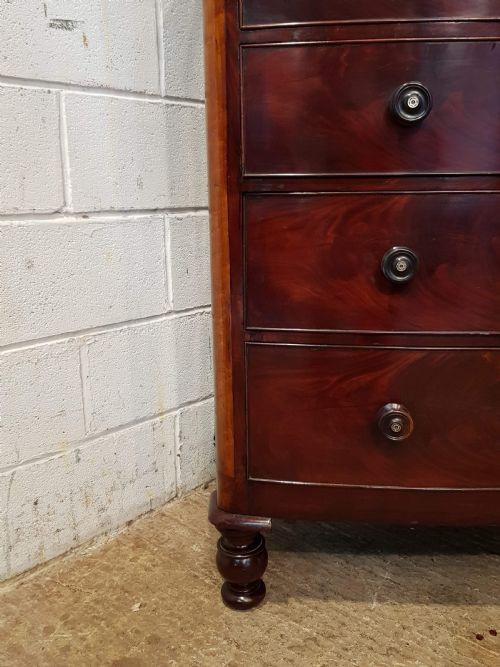 Original antike viktorianische Birken und Mahagoni Kommode englisch c1870