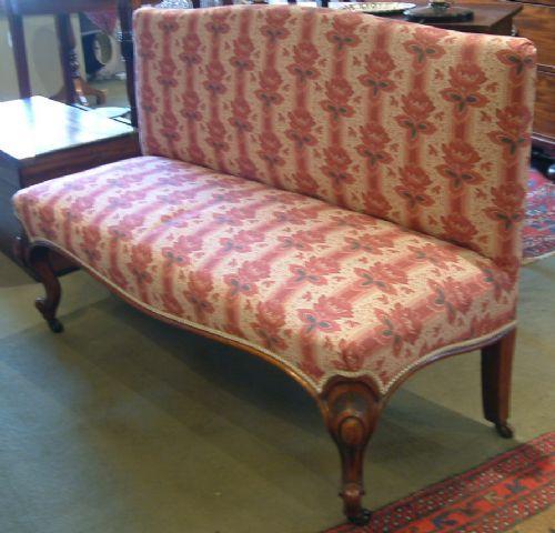 Viktorianisches Antikes Englisches Zweisitzer Sofa ca. 1860