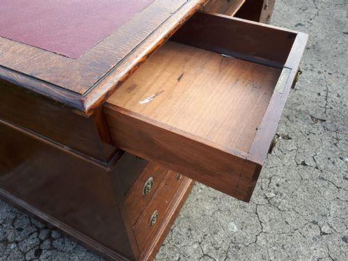 Eichen Schreibtisch Englisch original antik ca 1890