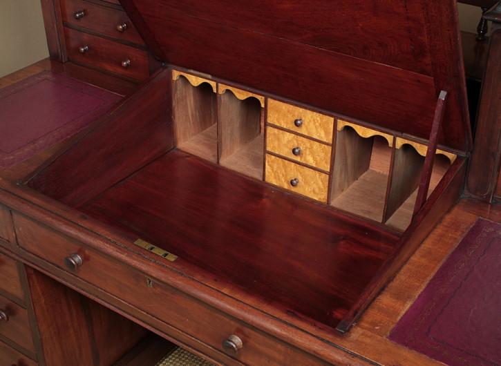 Antiker Mahagoni Massivholz Schreibtisch englisch c.1870