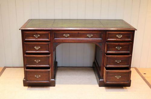Antiker Massivholz Mahagoni Schreibtisch englisch ca 1900