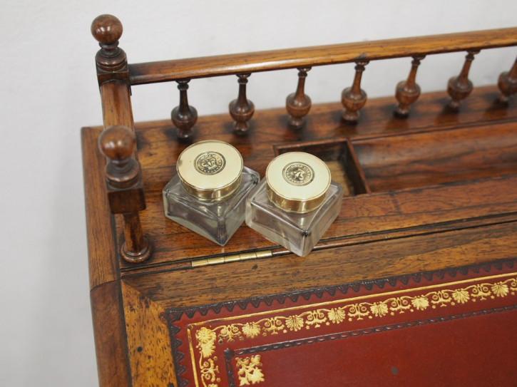 William IV Antiker Englischer Palisander Davenport Schreibtisch ca. 1835